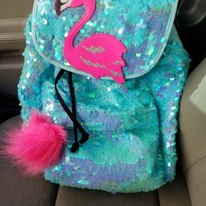 Justice Flamingo Backpack